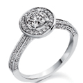 18ct White Gold & Round Brilliant Cut Diamond (0,85ct Total) Ring