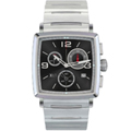 Stainless Steel Strap Chronograph Black Face with Date