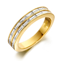 18ct Yellow Gold & Baguette Diamond Ring