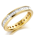 18ct Yellow Gold & Baguette Cut Diamond (1.00ct Total) Ring