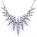 18ct white gold and diamond necklace